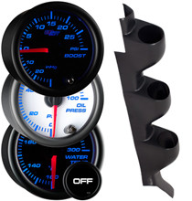 1990-1994 Mitsubishi Eclipse Custom 7 Color Gauge Package Gallery