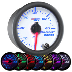 White 7 Color 60 PSI Exhaust Pressure Gauge