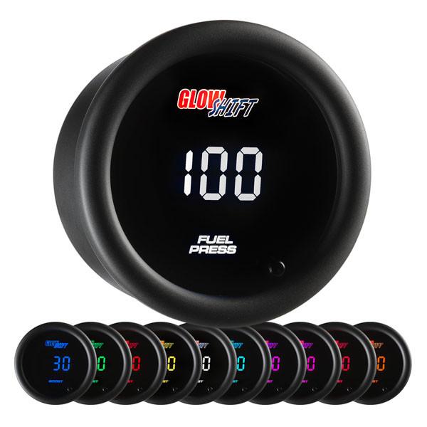 10 Color Digital 100 PSI Fuel Pressure Gauge