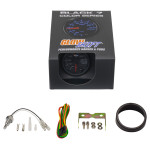 GlowShift Black 7 Color Transmission Temperature Gauge Unboxed