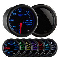 Tinted 7 Color 60 PSI Exhaust Pressure Gauge