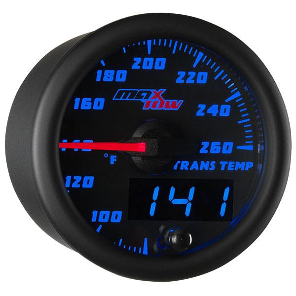 Black & Blue MaxTow Transmission Temperature Gauge
