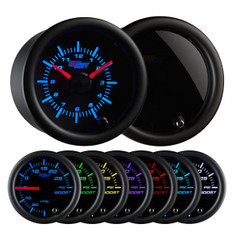 Tinted 7 Color Analog Clock Gauge