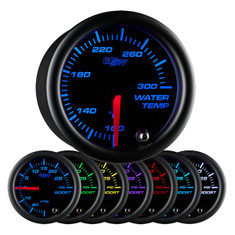 Black 7 Color Water Temperature Gauge