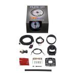 GlowShift White Elite 10 Color 100 PSI Fuel Pressure Gauge Unboxed