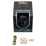 Black 7 Color 3 3/4 Tachometer w/ Shift Light Unboxed