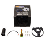 """GlowShift Tinted 7 Color 3 3/4"""" In Dash Tachometer Gauge Unboxed"""