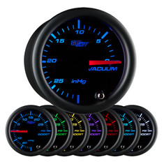 Black 7 Color Vacuum Gauge