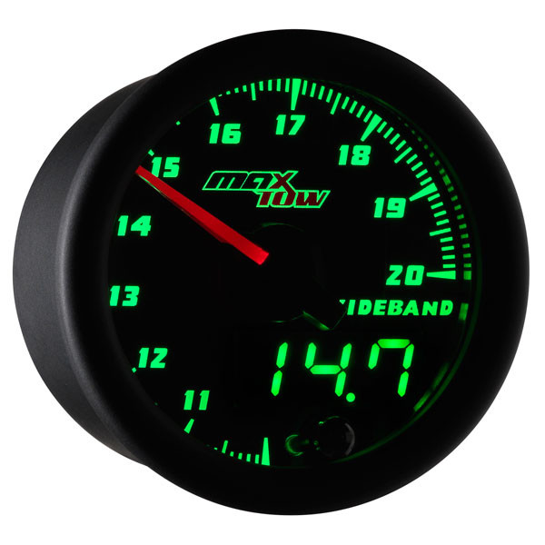 Black & Green MaxTow Wideband Air/Fuel Ratio Gauge