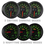 Black & Green MaxTow Daytime & Nighttime Dimming Modes