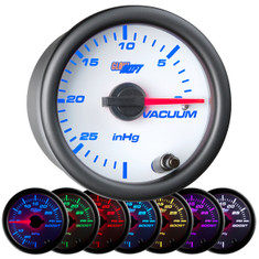 White 7 Color Vacuum Gauge