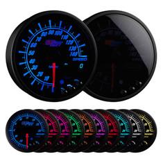 """Elite 10 Color 3 3/4"""" In Dash Speedometer Gauge"""