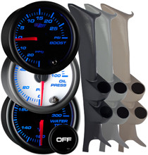 1999-2007 Ford Super Duty Power Stroke Full Size Dual Custom 7 Color Gauge Package Gallery