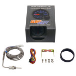 GlowShift Tinted 7 Color 1300° C Exhaust Gas Temperature Gauge Unboxed