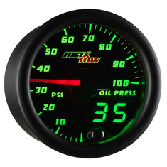 Black & Green MaxTow Oil Pressure Gauge