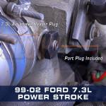 1999-2002 7.3L Power Stroke Air Intake Heater Boost Plug Installed