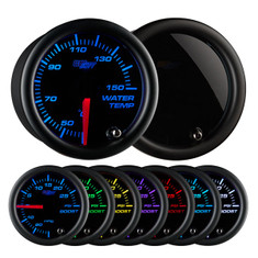 Tinted 7 Color Celsius Water Temperature Gauge