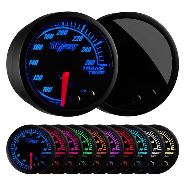 Elite 10 Color Transmission Temperature Gauge