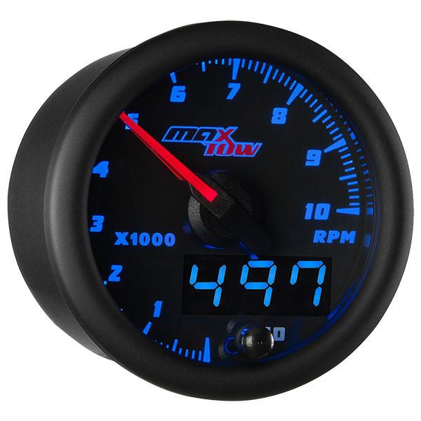 Black & Blue MaxTow Tachometer Gauge