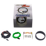 """White & Blue MaxTow 2"""" Tachometer Gauge Unboxed"""