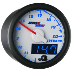 White & Blue MaxTow Wideband Air/Fuel Ratio Gauge