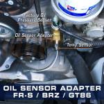 GlowShift Oil Sensor Thread Adapter Installed
