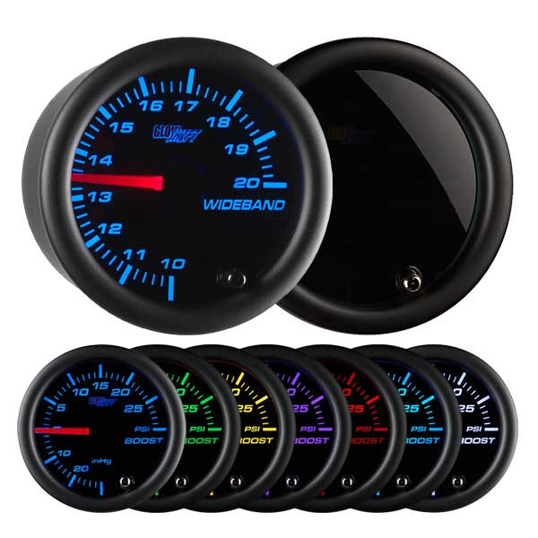 Tinted 7 Color Needle Wideband Air/Fuel Ratio Gauge