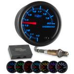 Black 7 Color Needle Wideband Air/Fuel Ratio Gauge