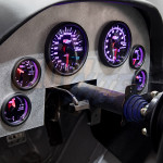 Tinted 7 Color Cluster Dashboard Set Installed to Custom Panel - Purple