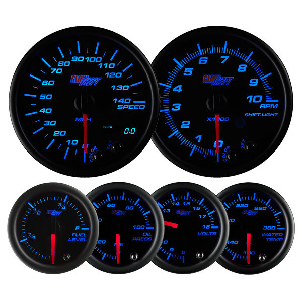 Water Temperature,Volt,Oil Pressure 6 Gauge Set,Speedo,Tachometer,Fuel Level
