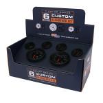 Black 7 Color Custom Dashboard Gauge Set Packaging