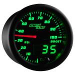 Black & Green MaxTow 100 PSI Boost Gauge