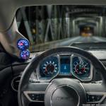 2010-2015 Chevrolet Camaro Gray Full Size Dual Pillar Pod Installed Front View