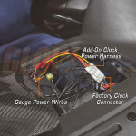 Add-On Clock Power Harness Installed to 2005 Subaru Impreza WRX STI