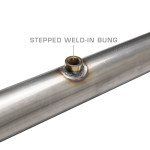 Wideband Air/Fuel Ratio Oxygen Sensor Stepped Weld-In Bung Installed