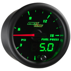 Black & Green MaxTow 15 PSI Fuel Pressure Gauge