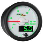 White & Green MaxTow 15 PSI Fuel Pressure Gauge