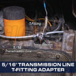 """5/16"""" Transmission Line T-Fitting Adapter Installed"""