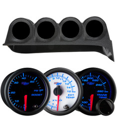 7 Color Series Quad Dashboard Gauge Package for 1986-1993 Dodge Ram Cummins Thumb