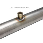"""Wideband Air/Fuel Ratio Oxygen Sensor 1"""" Extended Weld-In Bung Installed"""