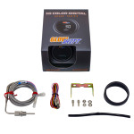 GlowShift 10 Color Digital Pyrometer Exhaust Gas Temperature Gauge Unboxed