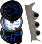 7 Color Series Triple Gauge Package for 2005-2010 Chrysler 300