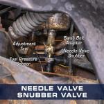 Diesel Fuel Pressure Snubber Needle Valve Installed to Dodge Ram Cummins