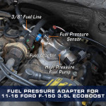 Fuel Adapter Installed to 2011-2016 Ford F-150 3.5L EcoBoost