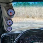 2000-2006 Chevrolet Avalanche Gray Triple Pillar Pod Front View Installed
