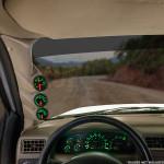 Tan Triple Pillar Gauge Pod for 2000-2005 Ford Excursion Installed