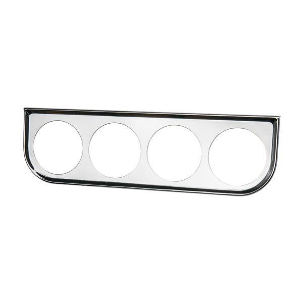 Universal Quad Gauge Chrome Under Dashboard Mounting Bracket Pod