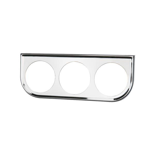 Universal Triple Gauge Chrome Under Dashboard Mounting Bracket Pod