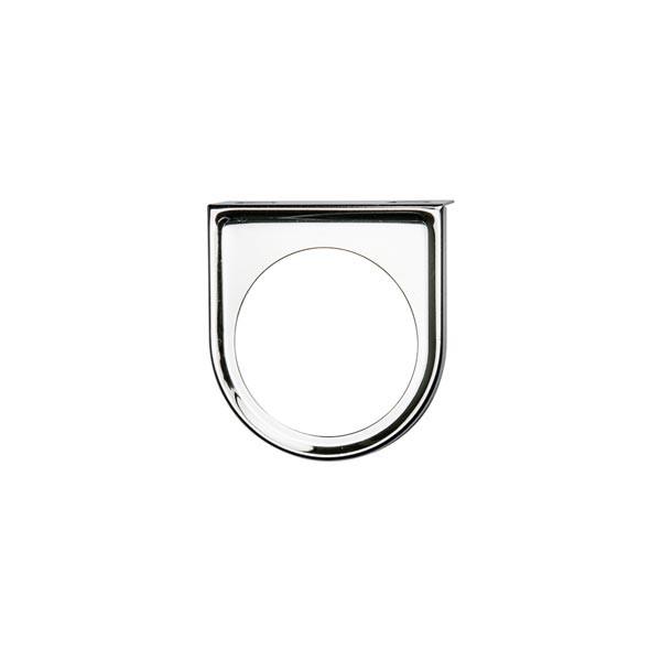 Universal Single Gauge Chrome Under Dashboard Mounting Bracket Pod