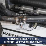 "19mm (3/4"") Water Sender Hose Attachment Installed"